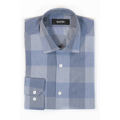 Farrell Business Dress Shirt // Denim Blue (US: 14.5A)
