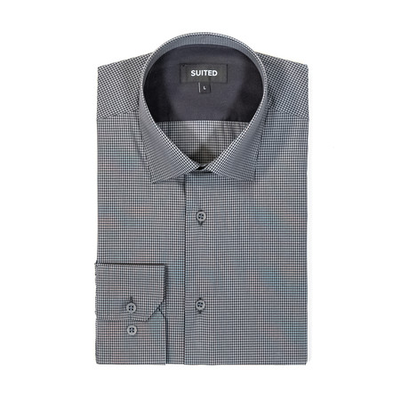 Rhodes After-Hours Dress Shirt // Black + Gray (S)