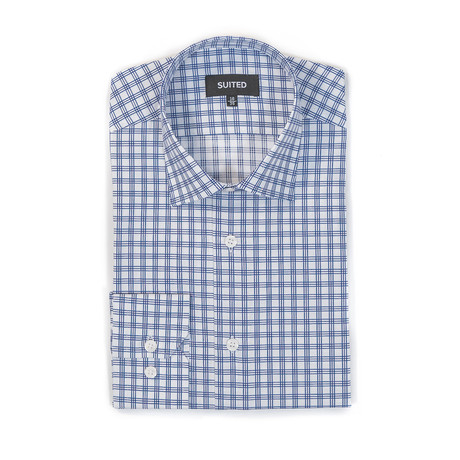 McCall Business Dress Shirt // White + Navy (US: 14.5A)