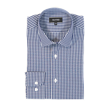 Sanchez Business Dress Shirt // Navy (US: 14.5A)