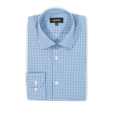 Chang Business Dress Shirt // Gray + Blue (US: 14.5A)