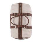 Two-Tone Duffle Travel Bag // Tan + Brown