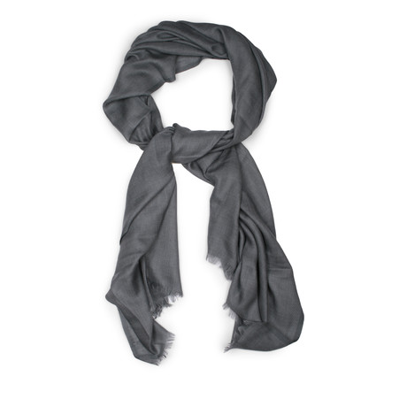 Cashmere Scarf // Teal Gray