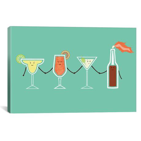 """Cocktails // HandsOffMyDinosaur (18""""W x 26""""H x 0.75""""D)"""