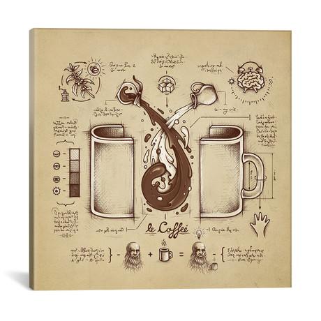 "Le Coffee (Fluid Of Creativity) // Enkel Dika (18""W x 18""H x 0.75""D)"