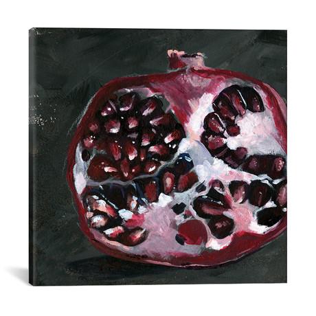 """Pomegranate Study on Black I // Jennifer Paxton Parker (18""""W x 18""""H x 0.75""""D)"""