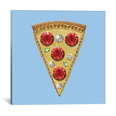 """Pizza Glitter // Dot Pigeon (18""""W x 18""""H x 0.75""""D)"""