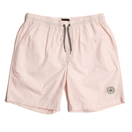 Seeker Tub Volley Swim Shorts // Light Pink (S)