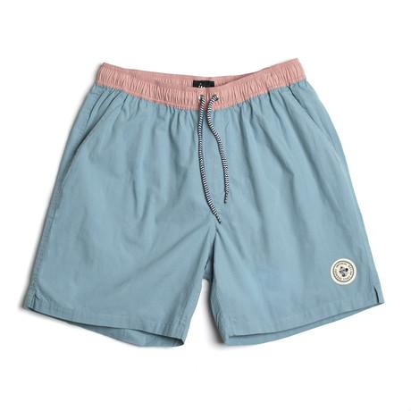 Seeker Tub Volley Swim Shorts // Aqua Haze (S)