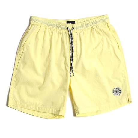 Seeker Tub Volley Swim Shorts // Lemon (S)