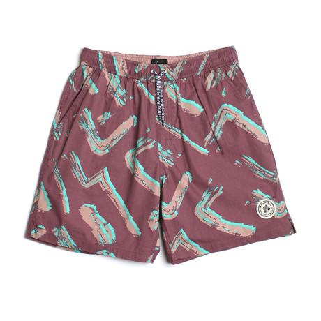 Seeker Tub Volley Swim Shorts // Screech (S)