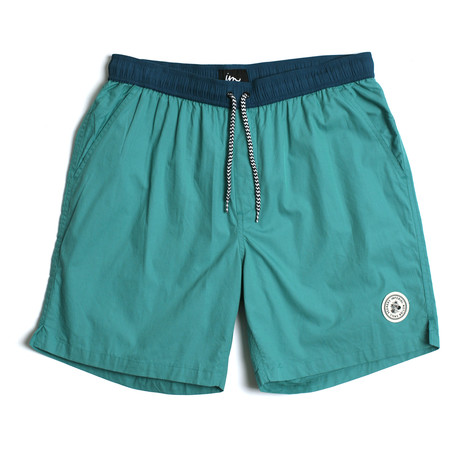 Seeker Tub Volley Swim Shorts // Dusty Turquoise (S)