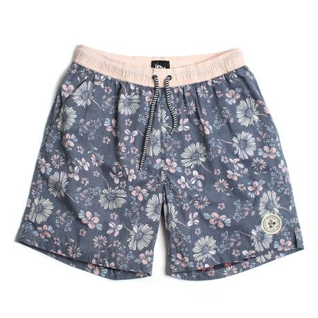 Seeker Tub Volley Swim Shorts // Midnight Pink (S)