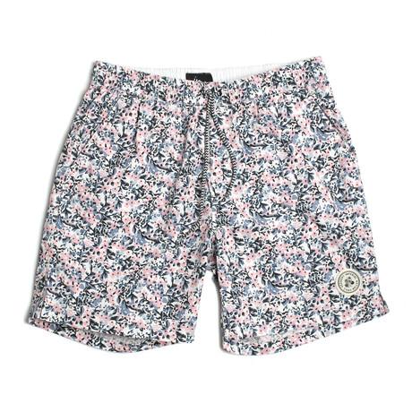 Seeker Tub Volley Swim Shorts // Potpourri (S)