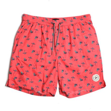 Seeker Tub Volley Swim Shorts // Coral (S)