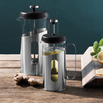 Essentials Stainless Steel Coffee + Tea French Press (0.85 Quart)