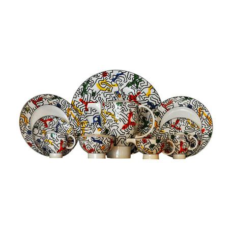 Keith Haring // Bone China Set // 1991