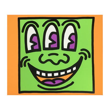 Keith Haring // Icons (E) - Three Eyed Man // 1990