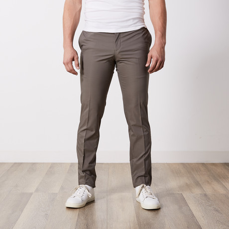 Tech Fabric Flat Front Pants // Khaki (30WX32L)