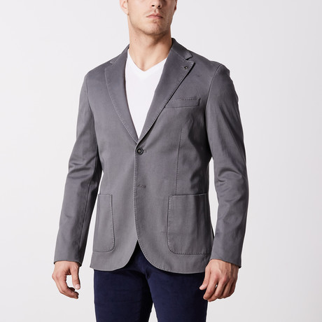 Stretch Cotton Jacket // Medium Gray (US: 44R)