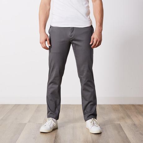 Stretch Cotton Slim-Fit Pants // Medium Gray (30WX32L)