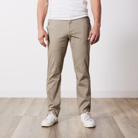 Stretch Cotton Slim-Fit Pants // Khaki (30WX32L)