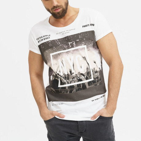 Club Night T-Shirt // White (S)
