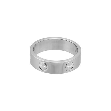 Vintage Cartier 18k White Gold Love Ring (Ring Size: 5.25)
