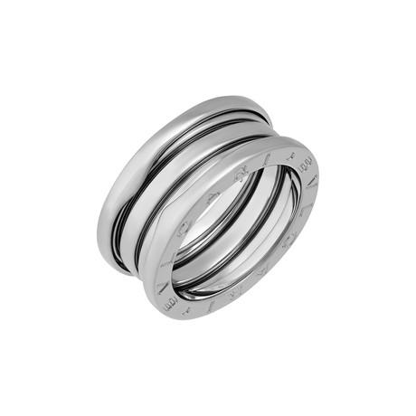 Vintage Bulgari 18k White Gold B.Zero1 3 Band Ring // Ring Size: 5.75