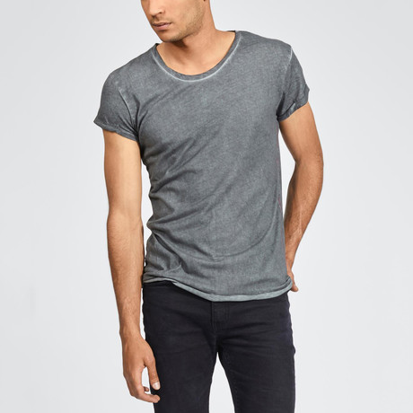 Basic Summer Short Sleeve Shirt // Anthracite (S)