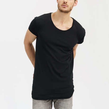 Basic Summer Short Sleeve Shirt // Black (S)