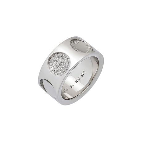 Vintage Louis Vuitton 18k White Gold Diamond Ring // Ring Size: 7.75