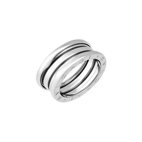 Vintage Bulgari 18k White Gold B.Zero1 3 Band Ring (Ring Size: 6)