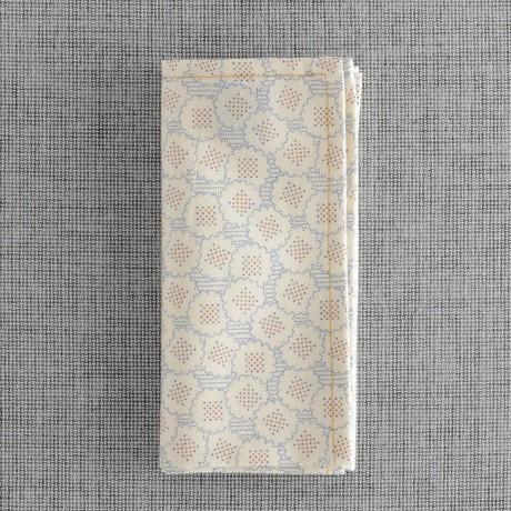 Carrom Pocket Square // Cream + Blue-Orange Pattern