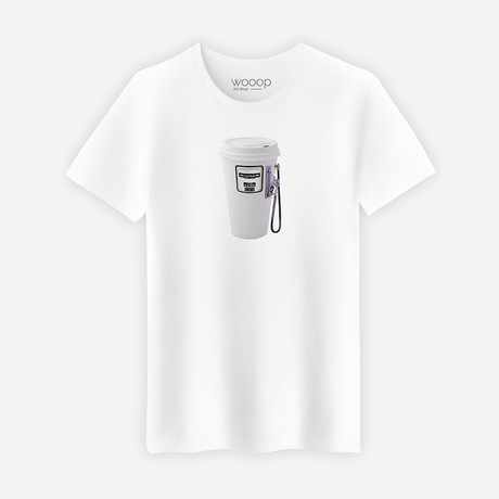 Coffee Fuel T-Shirt // White (S)