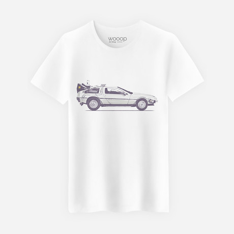 Delorean T-Shirt // White (S)