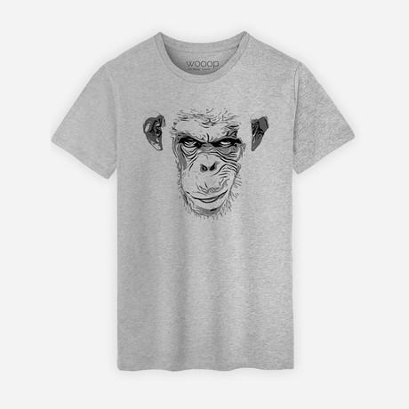 Evil Monkey T-Shirt // Gray (S)