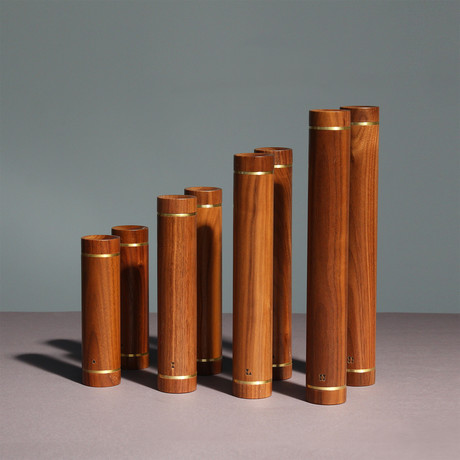 Dumbbell // Set of Eight // American Walnut