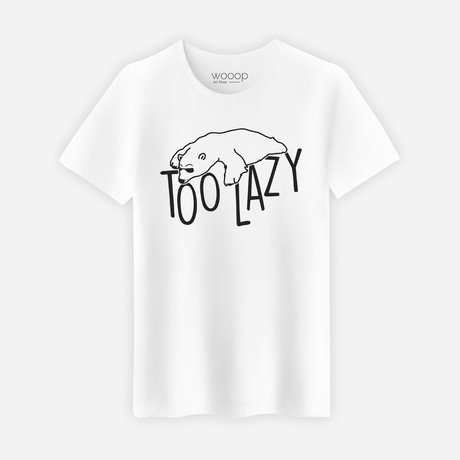 Too Lazy T-Shirt // White (S)