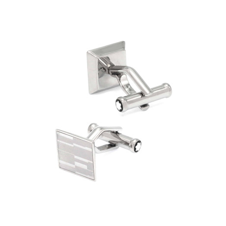 Montblanc Mystery Square Stainless Steel Cufflinks // 111316