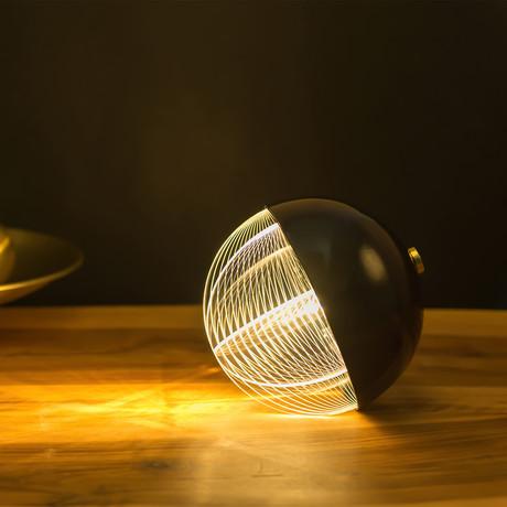 Oblò Nero Table Lamp