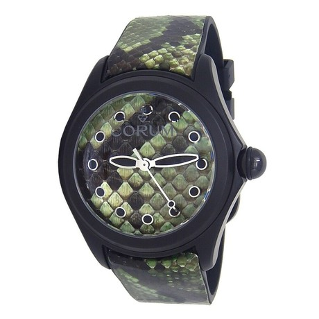 Corum Bubble 42 Green Python Automatic // L082/02996 // New