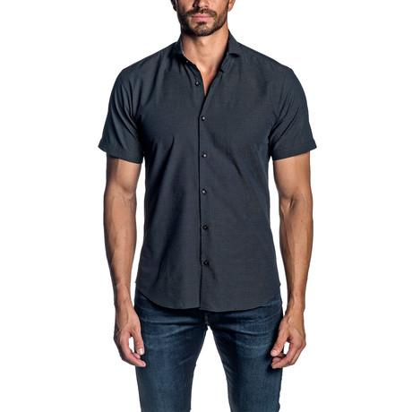 Short Sleeve Button-Up Shirt // Black (S)