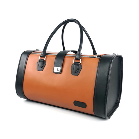 Pilot Duffle Bag // Black + Tan