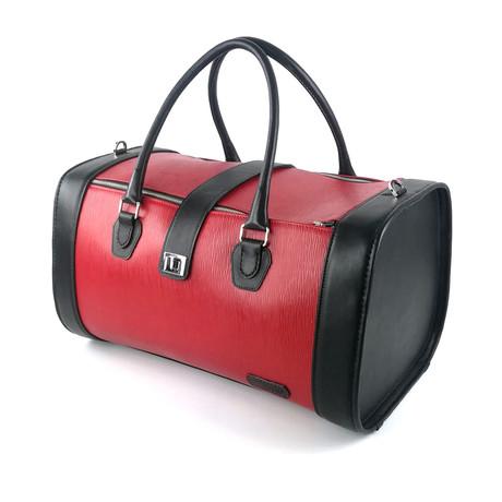 Pilot Duffle Bag // Black + Red