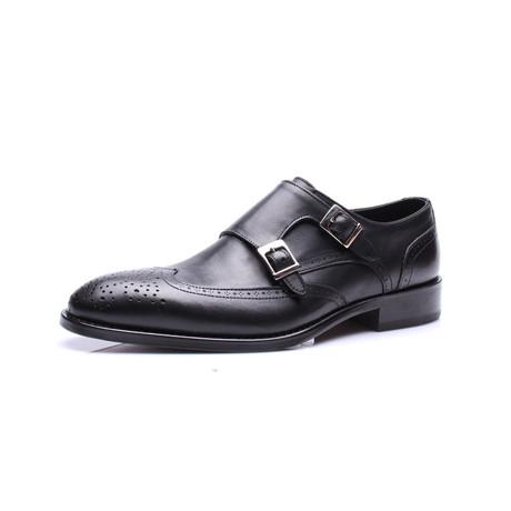 Monk Strap Dress Shoes // Black (Euro: 39)