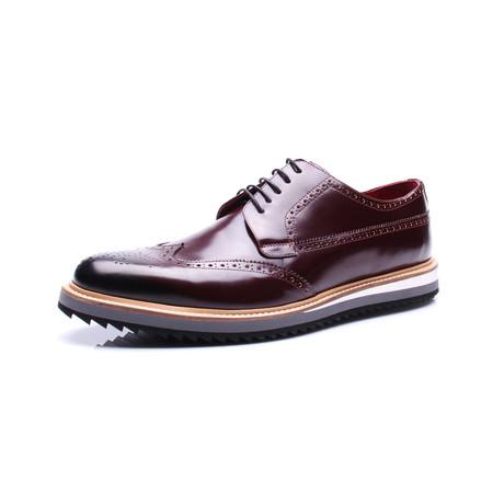 Wingtip Platform Dress Shoes // Bordeaux (Euro: 39)