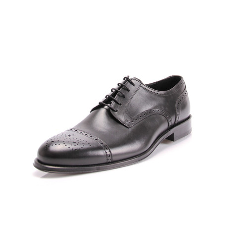 Eric Cap Toe Dress Shoes // Black (Euro: 39)