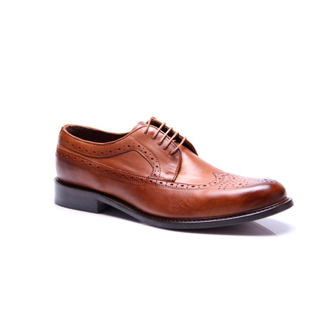 Wingtip Dress Shoes // Tobacco (Euro: 39)