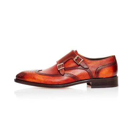 Monk Strap Dress Shoes // Beige, Tobacco (Euro: 39)